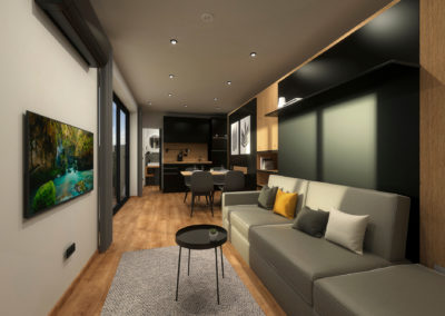 Tiny House BLOXS interior view