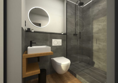 Tiny House BLOXS Bathroom with walk-in shower