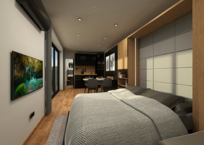 Tiny House BLOXS with clever furniture and sofa bed