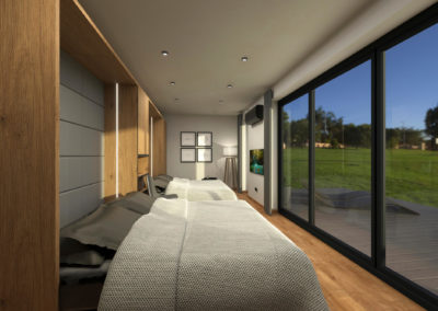 Tiny House BLOXS with closet Beds for 4 people