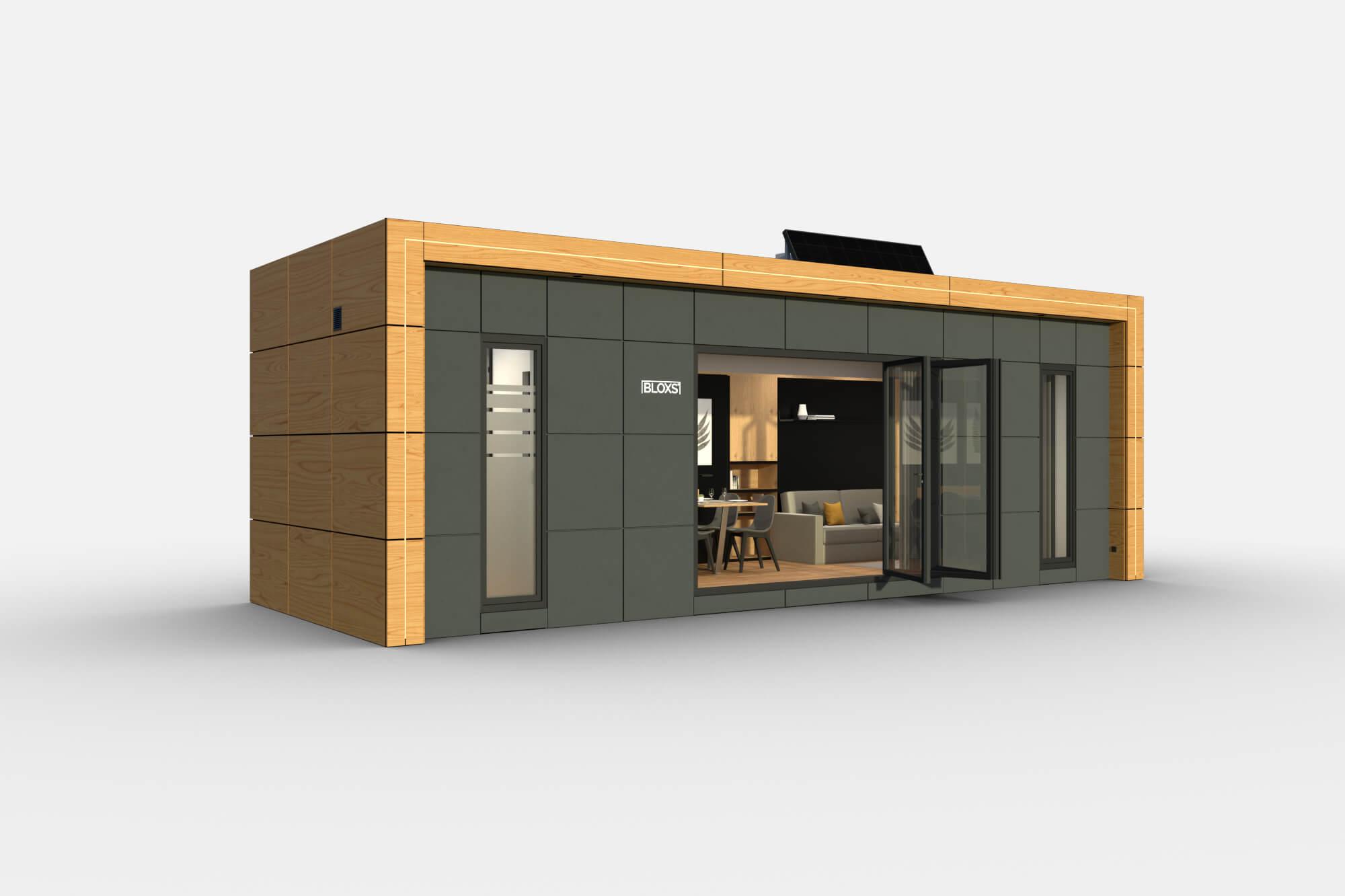 Tiny Haus BLOXS 9 Meter lang 1 Zimmer Apartment