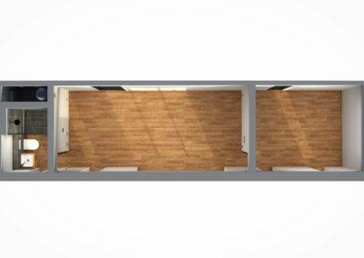 Tiny House BLOXS 12 Meter lang Raumplan