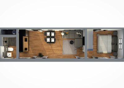 Tiny House BLOXS 12 Meter lang mit 2 Zimmern