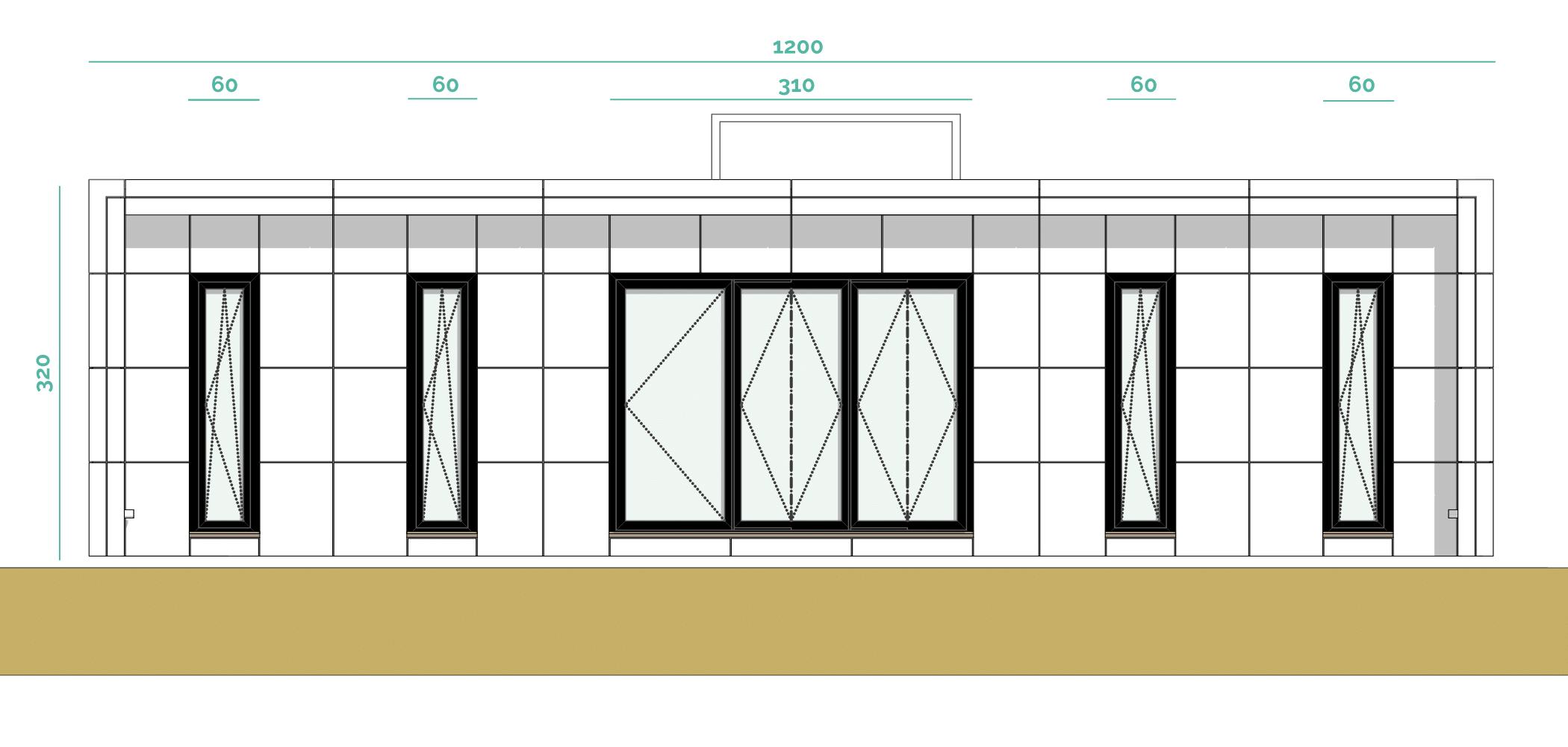 Tiny House BLOXS Frontansicht mit 12 Metern Länge