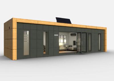 Tiny House BLOXS 12 Meter lang 2 Zimmer Apartment