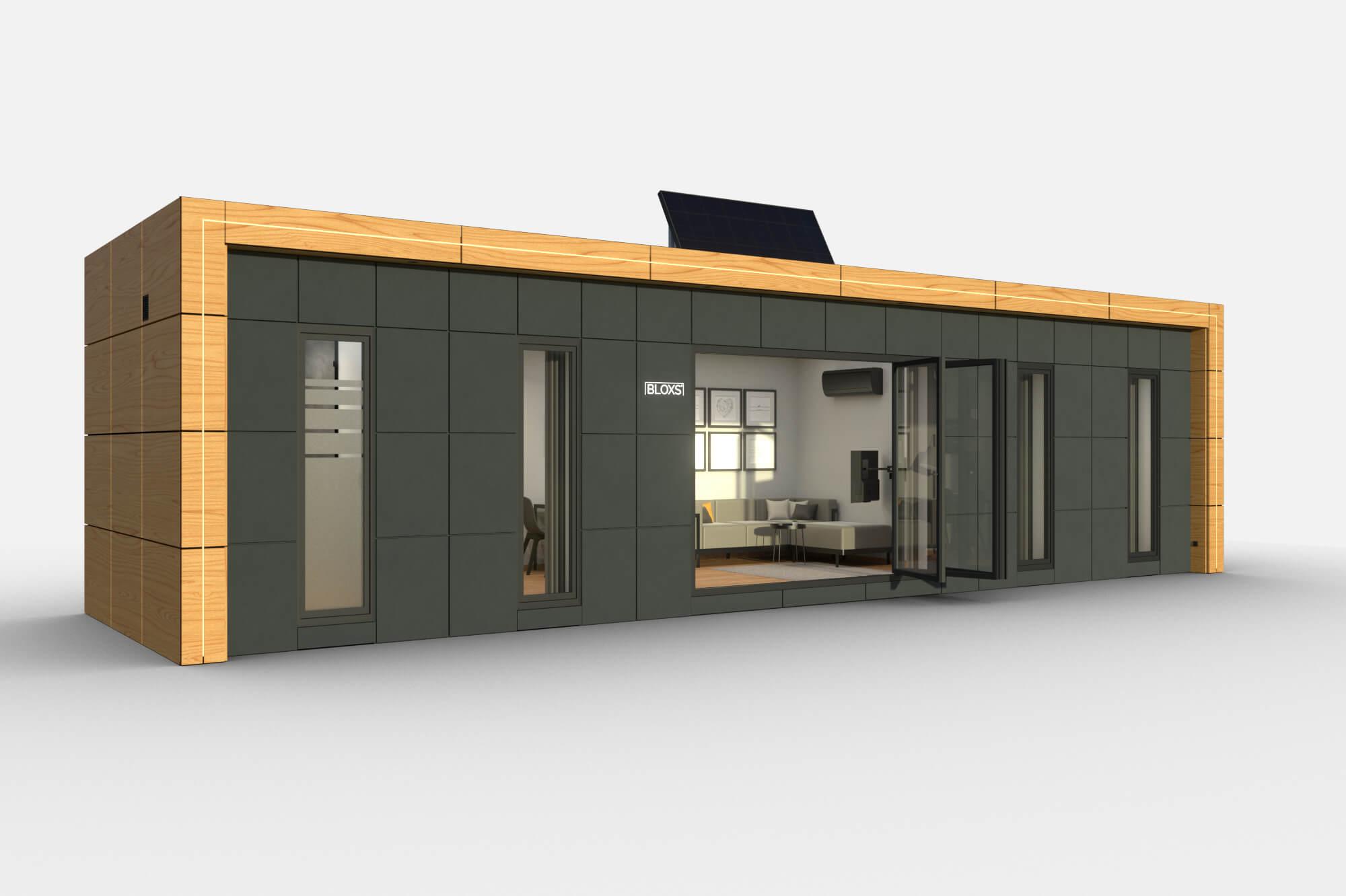 Tiny Haus BLOXS 12 Meter lang 2 Zimmer Apartment