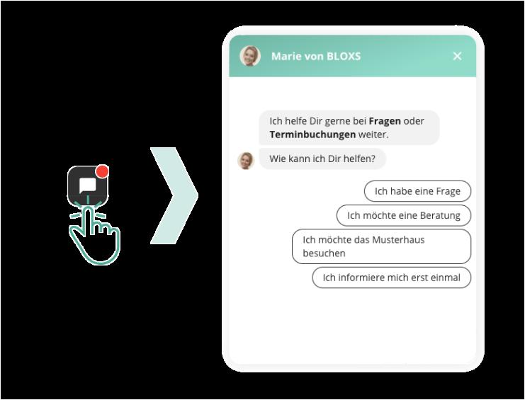 BLOXS digitaler Kundensupport zur Terminbuchung