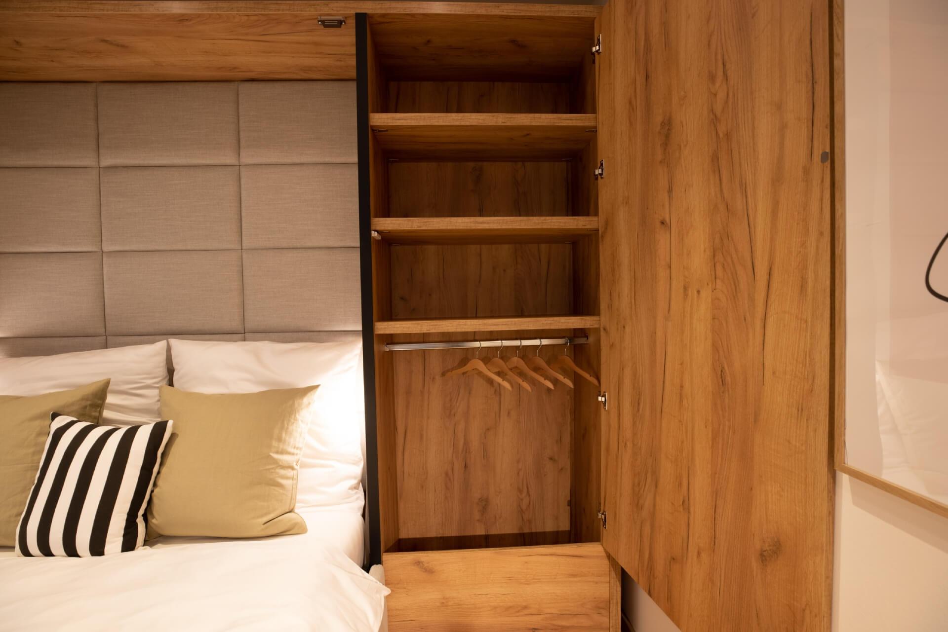 Tiny House BLOXS with BLOXS elements sofa and wardrobe