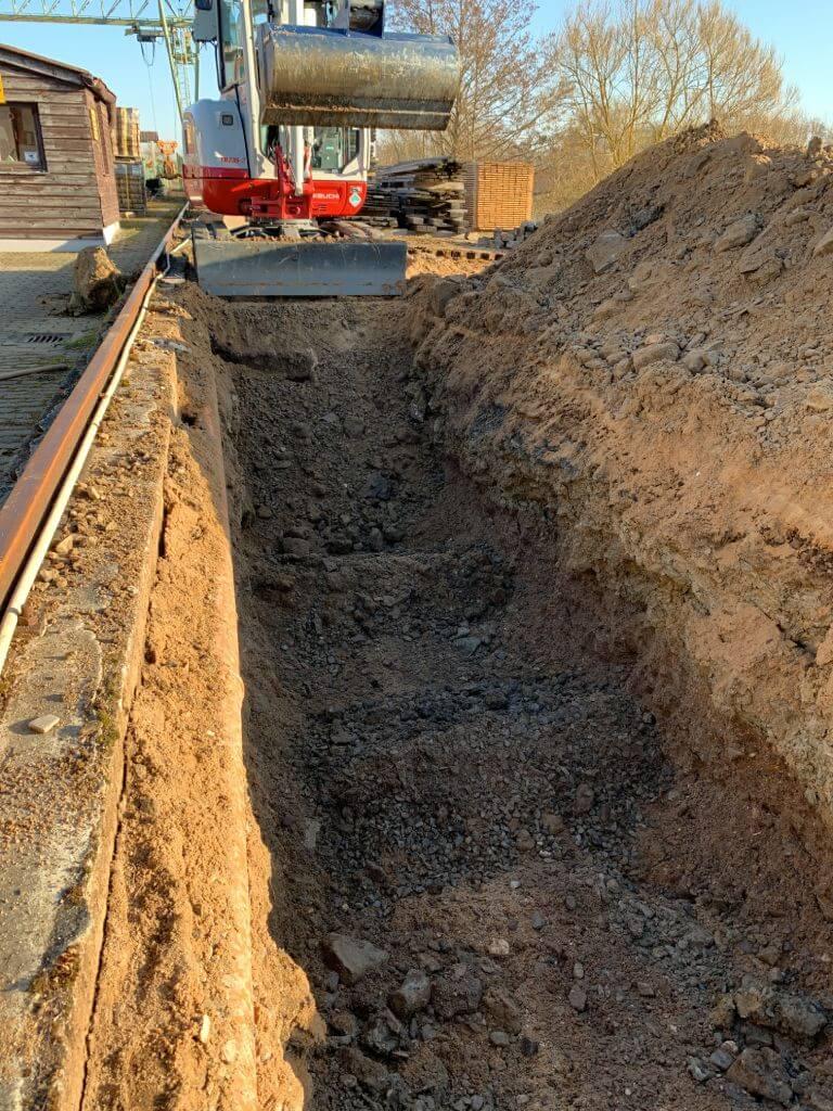 Tiny Haus Fundament Vorbereitung zum Einbau von steel roots